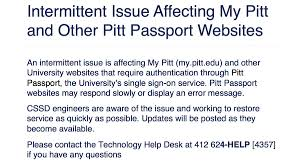 pitt technology help desk university of pittsburgh on twitter we are aware of an issue