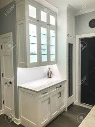 white kitchen wall display cabinets glass display with base and wall white kitchen cabinets and marble