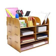 organiseur bureau fichier support boîte de rangement organiseur de bureau en bois