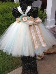 Country Shabby Chic Wedding by Aqua U0026 Burlap Couture Flower Tutu Dress Shabby Chic Wedding