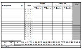 sample basketball score sheet 8 documents in pdf word excel