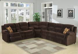 Microfiber Recliner Sofa by Norton Brown Microfiber Reclining Sectional Sofa S3net