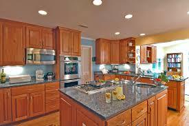 oak cabinets kitchen transitional with hardwood floors oklahoma