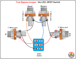 true bypass looper no led dpdt switch wiring diagram