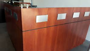 Espresso Reception Desk Reception Common Sense Office Furniture