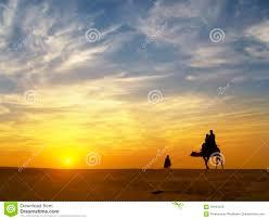 thar desert beautiful sunset at thar desert jaisalmer india stock photo
