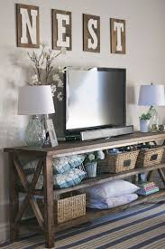 Restoration Hardware Console Table by 25 Best Rustic Tv Console Ideas On Pinterest Tv Console