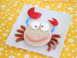 cute food for kids play with your sandwich transform a crab