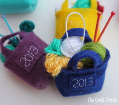 the craft patch miniature knitting bag christmas ornament