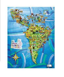 World Map Posters by All Around This World Latin America Musical Map 24