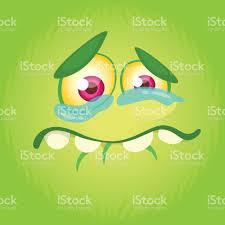cute happy halloween logo cartoon monster face vector halloween cute monster square avatar