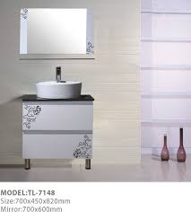 gray wall paint mirrow with glass frame white small real wood