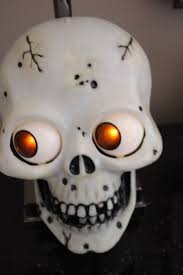 animated halloween lights vintage skull wall door greeter plaque halloween animated eyes