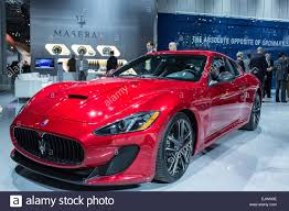 gran turismo maserati red new york ny 1 april 2015 a red maserati gran turismo mc stock