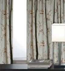 Faux Silk Embroidered Curtains Ready Made Drapery Panels Faux Silk Taffeta Embroidered