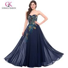 party dresses peacock dress grace karin purple evening dresses 2018 new arrival