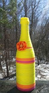 8 best yarn bottles spring home decor yarn art wine bottles flower