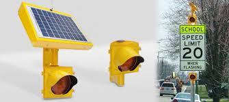 solar powered flashing yellow light zone flashing beacons safety systems solar powered