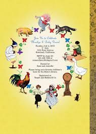 mother goose invitation nursery rhyme invitation for baby showers