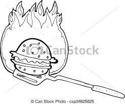 cuisine dessin animé hamburger blanc cuisine noir dessin animé cuisine