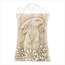 bunny garden wall plaque how does your garden grow pinterest