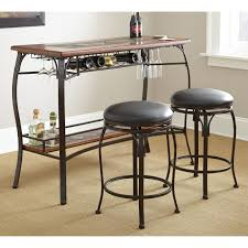 3 Pc Kitchen Table Sets by Steve Silver Dakota 3 Piece Counter Height Pub Table Set Dark