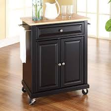 kitchen portable kitchen island carts with black stained wood
