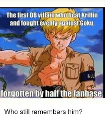 Krillin Meme - the first db villain whobeat krillin and fought evenly against