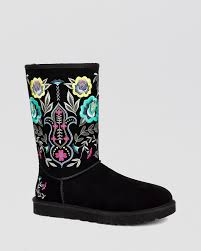 ugg womens julietta boots black ugg cold weather boots juliette embroidered bloomingdale s