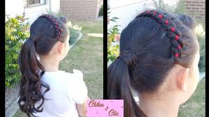 ribbon headband ribbon headband into curly ponytail braided hairstyles