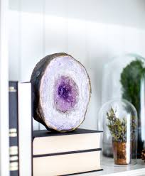 geode home decor geode waterproof art panel purple agate