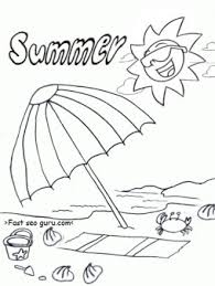 free printable summer beach umbrella coloring pages printable