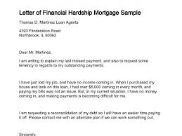 Loan Outstanding Letter letter of financial hardship