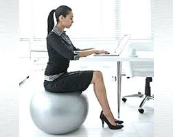 Desk Chair Workout Desk Exercise Ball Chair Vs Standing Desk Best Size Stability