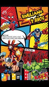 Spiderman Invitation Cards 45 Best Tarjetas De Cumpleaños Niños Images On Pinterest