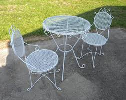 Outdoor Patio Tables Only Vintage Wrought Iron Patio Furniture Etsy