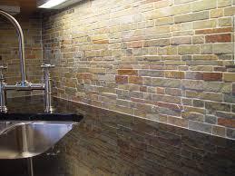 Exposed Brick Wall Kitchen Backsplash Extraordinary Red Glass Backsplash Kitchen