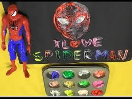 spiderman paint kids colors children