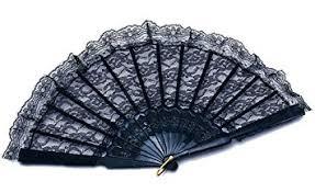 black lace fan black lace fan fancy dress moulan