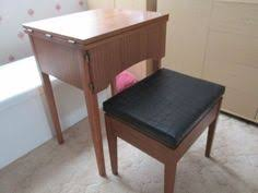 fold away sewing machine table necchi sewing machine mounted in a wood cabinet ebay sewing