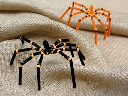 preschool crafts for kids halloween spider pipe cleaner craft