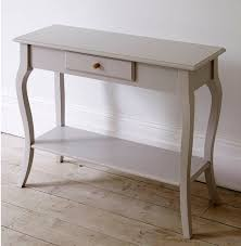 Sofa Tables With Drawers by White Wooden Table With Single Drawer On The Middle Also Connected