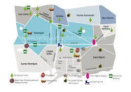 Christmas Map Christmas And New Years Barcelona 2013 2014 Safe Journey Barcelona