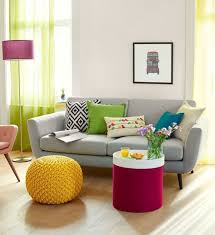 wohndesign prächtig grau sofa plant decoration hall pink couch