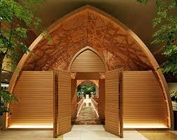 japanese wedding arches japanese wedding chapel is lined with intricate carved