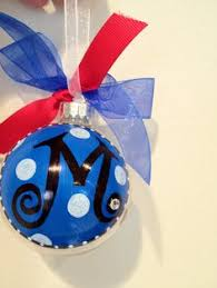 custom glass ornaments personalized with letters in many