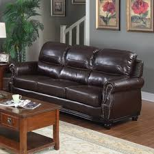 luxurious bonded leather sofa wayfair