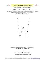 letter w alphabet printables for kids alphabet printables org