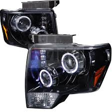 2012 ford f150 projector headlights spec d tuning ford f 150 2009 2012 halo black projector headlights