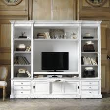 Vitrine Blanche Pas Cher by Meuble Tv Avec Bibliotheque On Decoration D Interieur Moderne